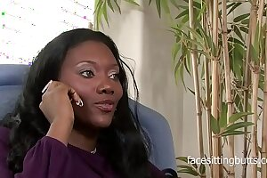Classy MILF gets fucked by her goofy clients black cock