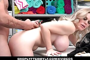 Hot MILF Thief Caught Stealing And Fucked