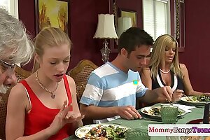 Mamma watching hot stepdaughters facial