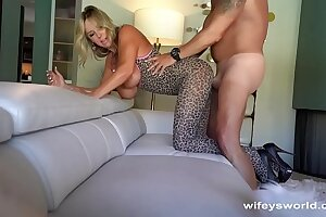 Drilled Wifey Shoots Cum On Herself