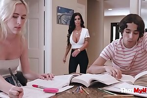 Thick Brunette MOM Helps Daughters BF Study-  Melissa Lynn