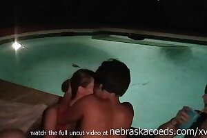 real hot tub party gets out of hand with girls tasting and licking pussy
